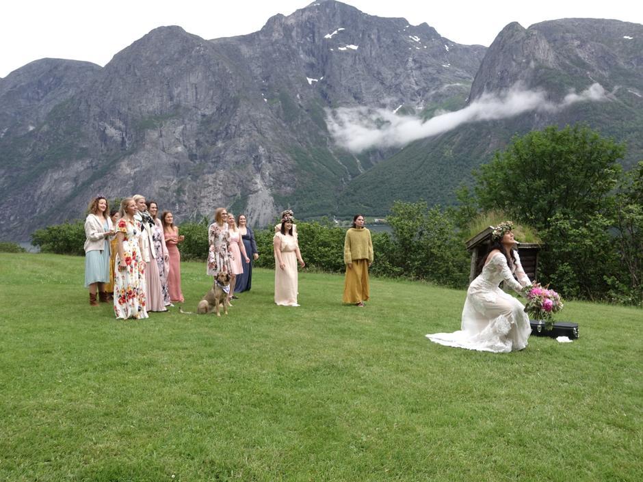 Katsing av brudebukettet