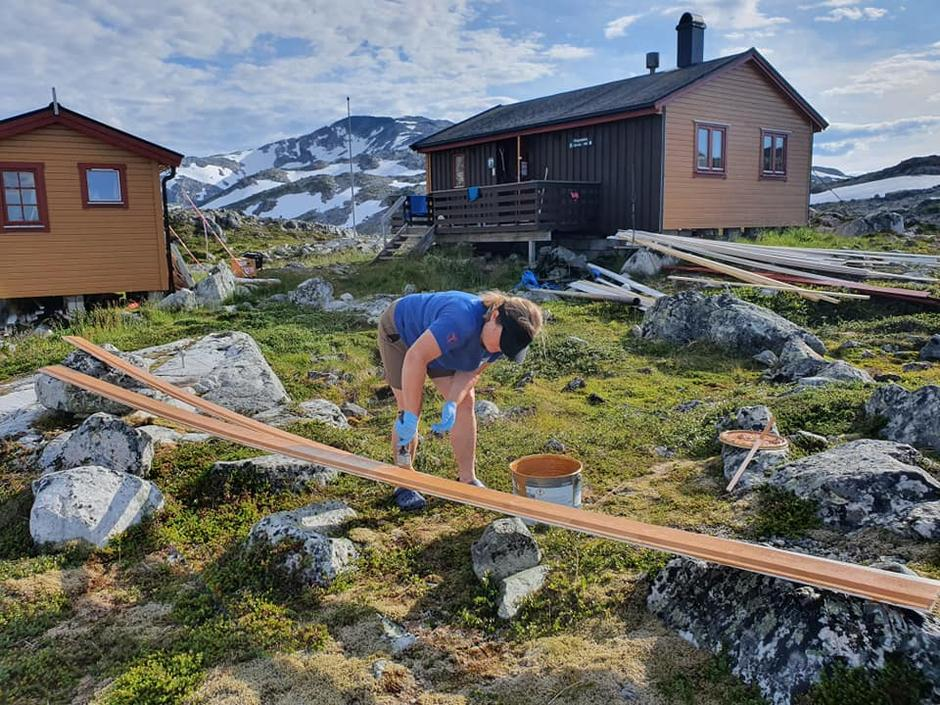 Svanhild Dalberg i sving på Ringvassbu
