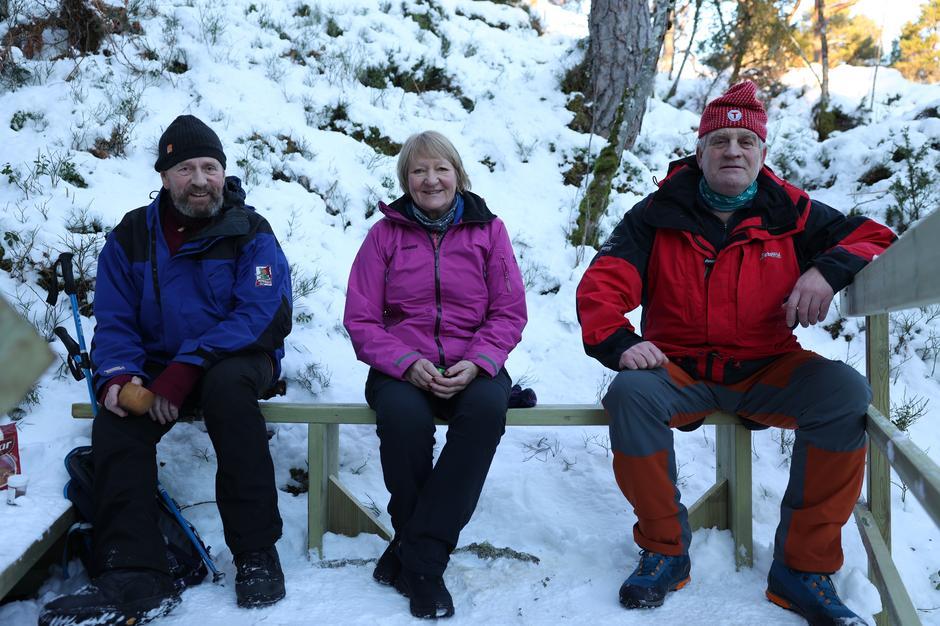 Jens Halten, Gunn Myrset og Magne Herkedal i Haltvikdalen.
