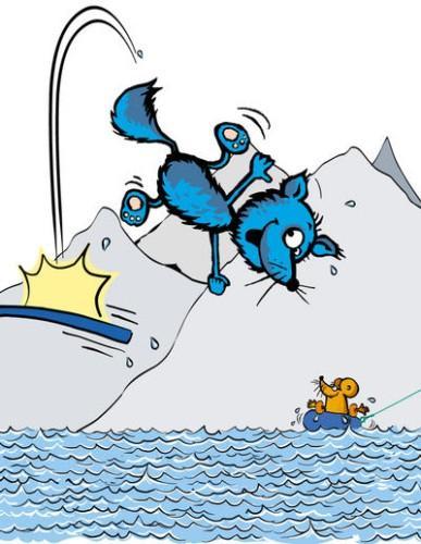 Turbo gleder seg til å bli kjent i Lyngen - kanskje også til å ta et bad i Blåvatnet?!