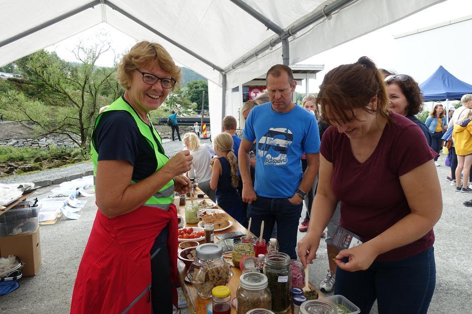 Nyttevekstforeningen er spesialistene på Sankefestivalen med sin store kunnekap.