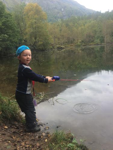 Fisketur til Storatjødni i Mørkridsdalen