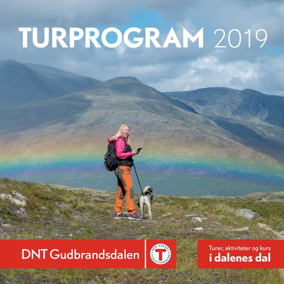 Turprogram for DNT Gudbrandsdalen 2019 finner du her ved å klikke på bildet.