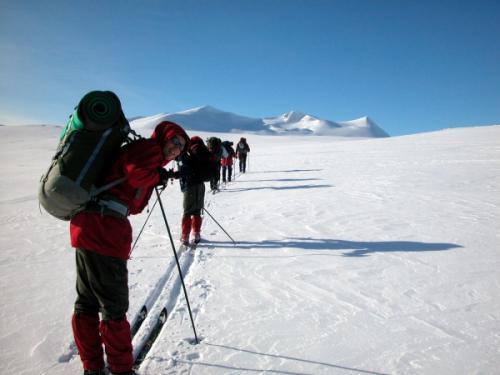 Skitur sentralt på Saltfjellet