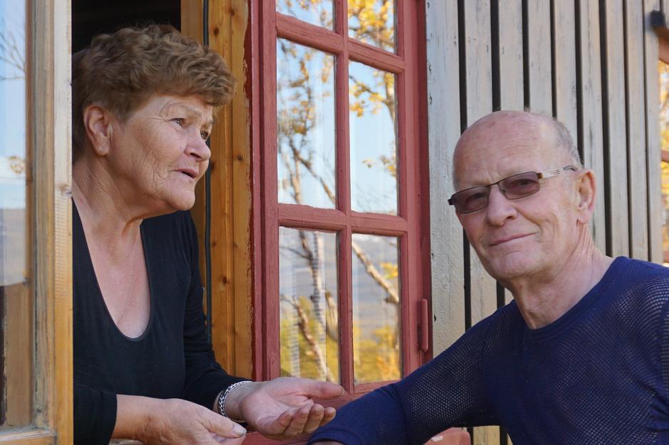 Bernt og Selma får mye turglede av å være tilsyn på DNT hytte.