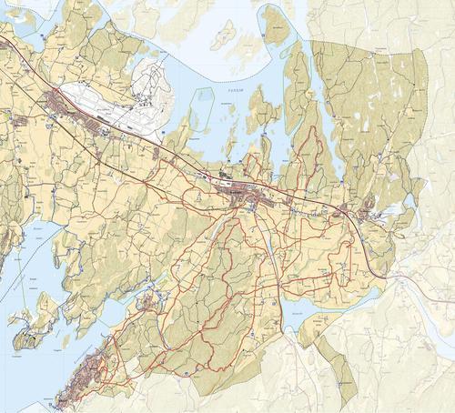 Skiløypekart - Råde kommune