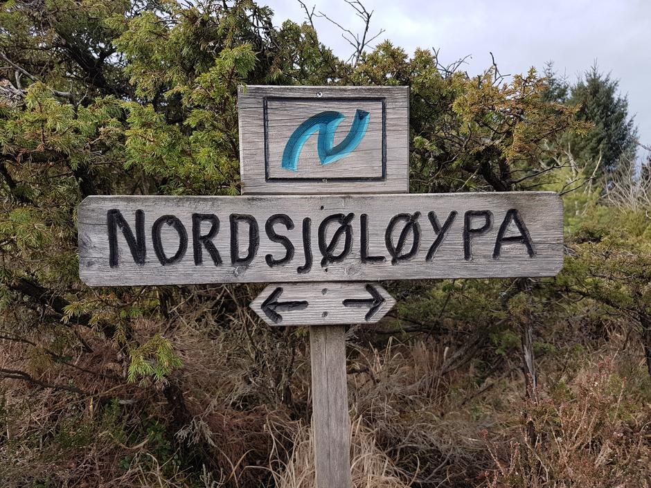 Første del av turen gjekk på Nordsjøløypa.