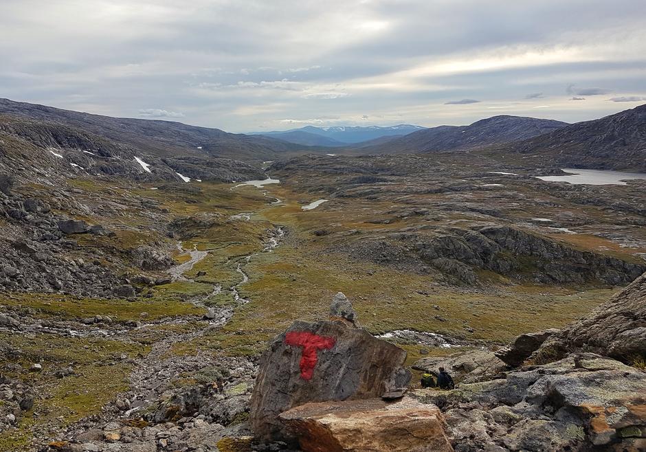 Nydelig utsikt utover Jamtfjelldalen.