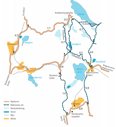 kart over skiløyper oslo Kart — Kobberhaughytta kart over skiløyper oslo