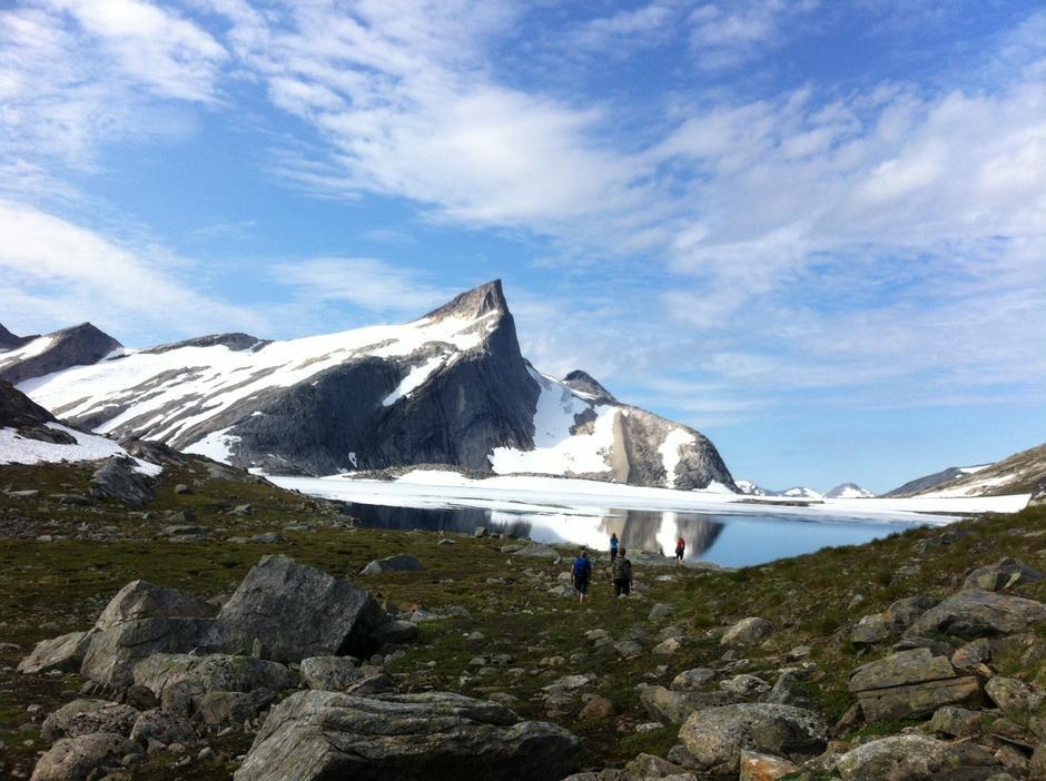 Fjelltur til  Gasskatjåhkka fjelltopp sørfold kommune