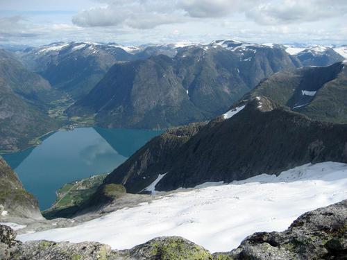 Utsikt frå Storskredfjellet