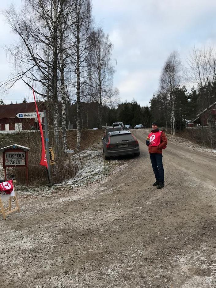 Stor takk til Morten, som var parkeringshenviser