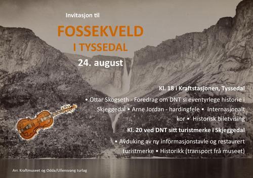 Fossekveld Odda – jubileumsarrangement med Turistforeningen