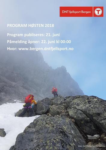 Program for høsten 2018 publiseres 21. juni