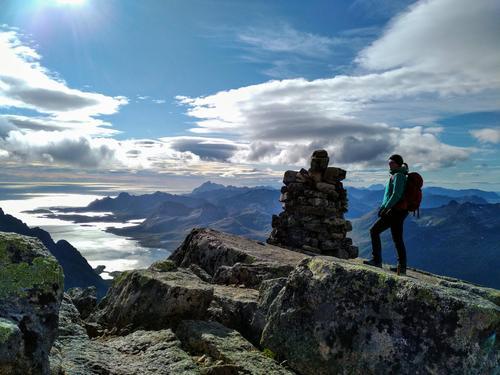 Fra toppen mot Lofotveggen