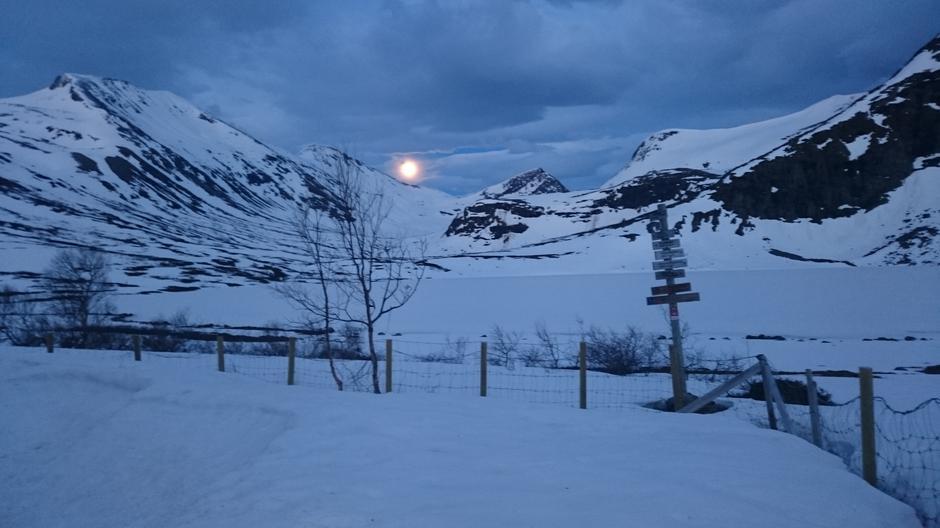 Månesskinn ved Måsvassbu