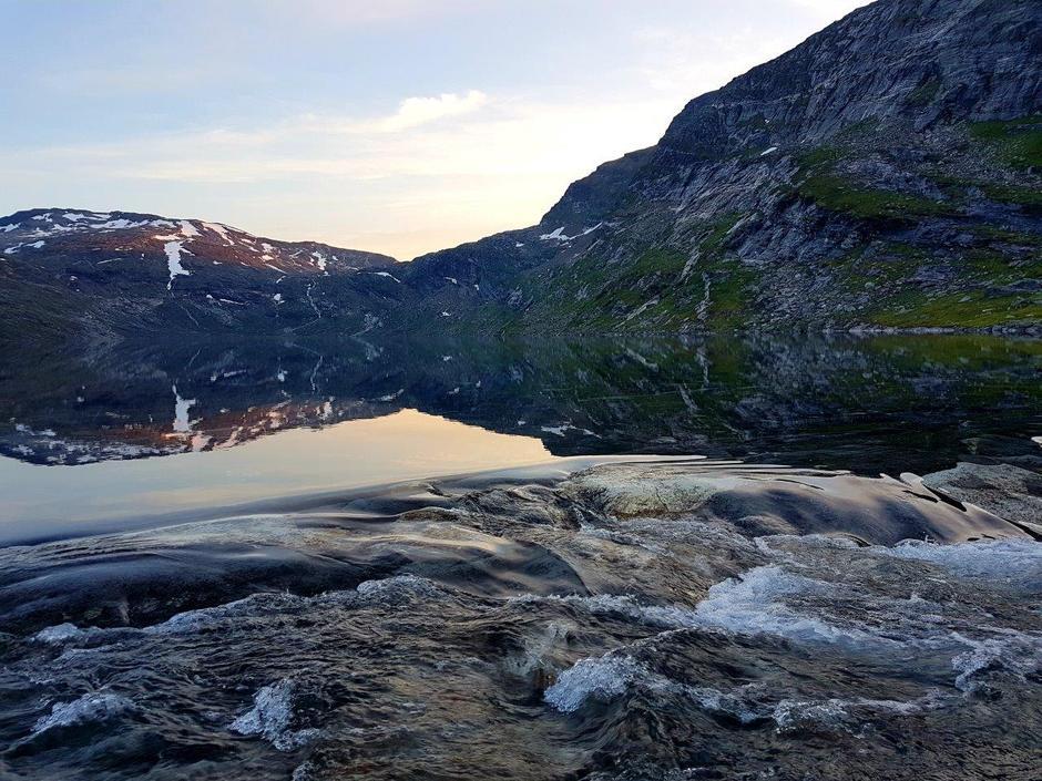 Kveldstemning, utløpet fra Blåvatn!