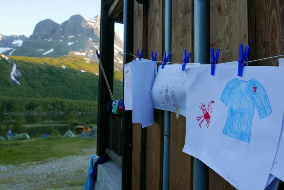 Tegnekonkurranse på Base Camp Innerdalen