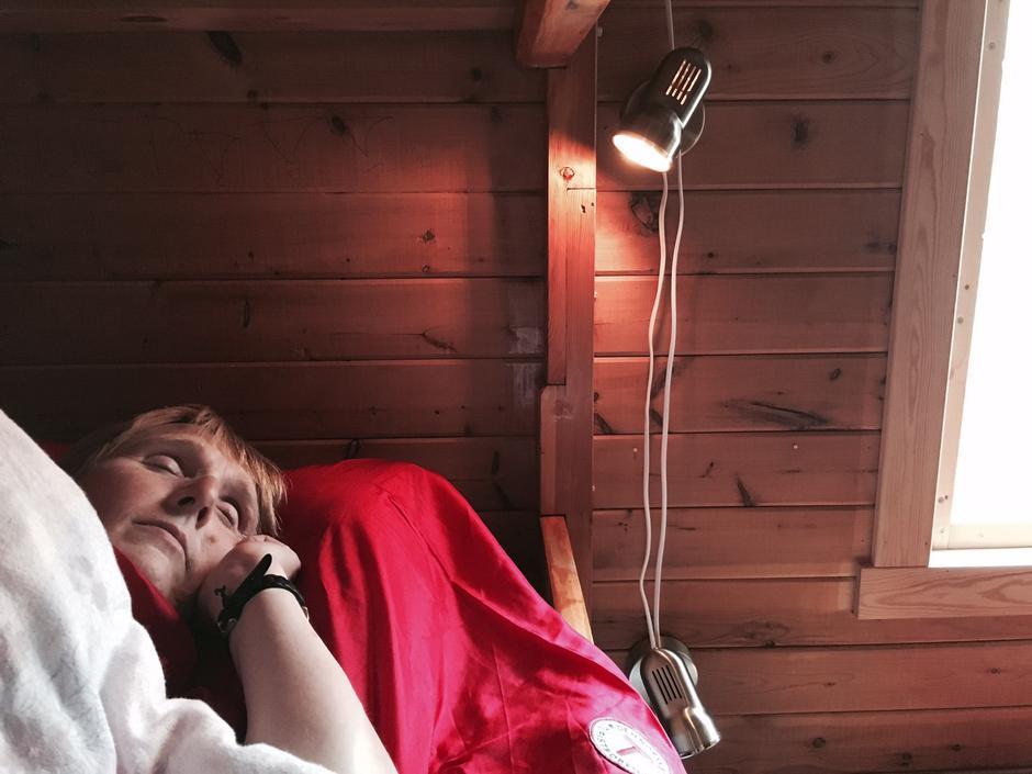 Sover søtt og drømmer om ny tur