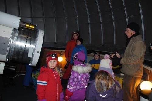 Atronomitur til Skibotn Feltstasjon sammen med Barnas Turlag Tromsø og Tromsø Astronomiforening.