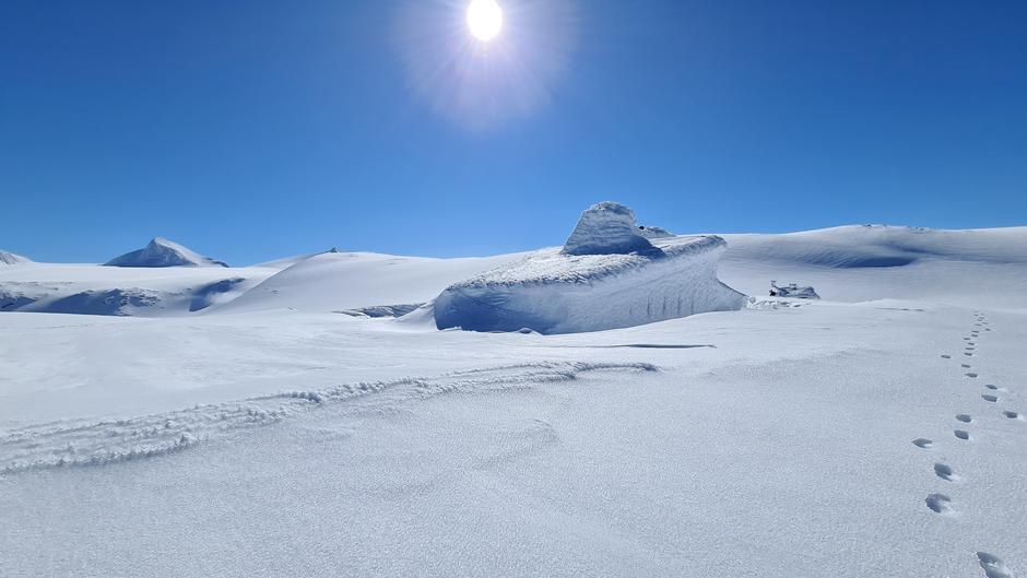 Rabothytta har topp forhold for skitur