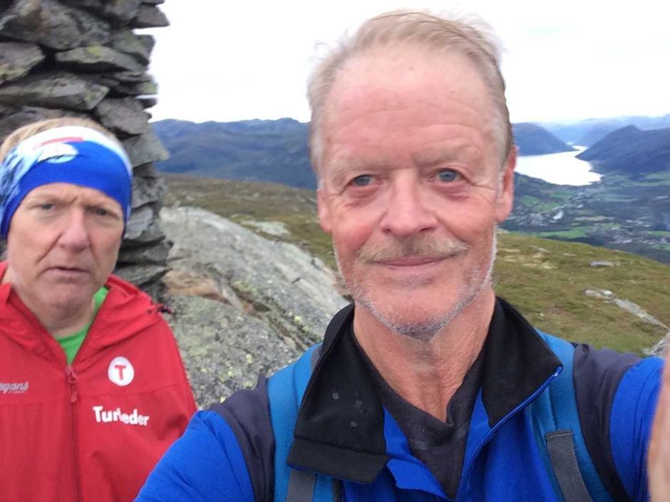 Onsdagstur Grimeland-Eikåsnipa den 4. september. Artikkelforfattaren var den einaste deltakaren utanom turleiar Kjell Arne Hjellbrekke.