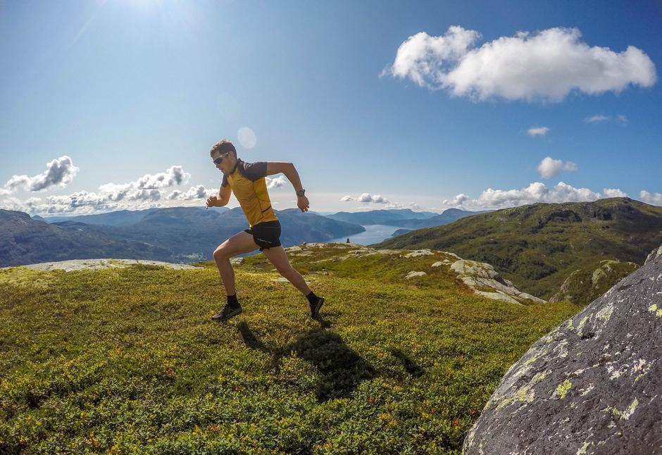SEIG: Glenn Tore Løland fra Sauda har blant annet vunnet Haukeli Ultra Trail og Trollheimen Fjellmaraton.