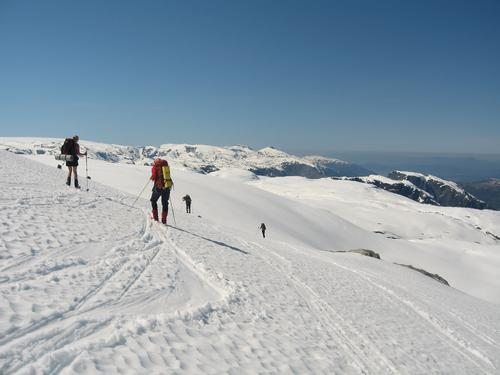 Folgefonna på langs, skitur