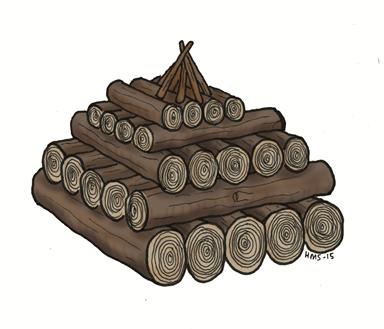 Et bål passer godt om vinteren fordi det brenner sakte og lenge. Begynn med å hardtrampe snøen eller grave den bort. Legg så lag på lag med vedkubber oppover, og et lite pyramidebål eller pagodebål på toppen. Tenn bålet på toppen. Det nederste laget med ved kan gjerne være fuktig, slik at bålet ikke brenner seg så lett nedover i snøen.