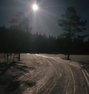 Skitur i måneskinnet