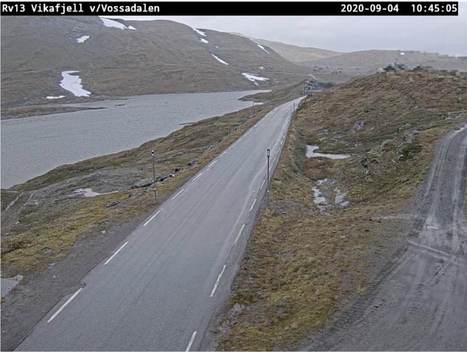 Vegvesenets webkamera på Vikafjellet.