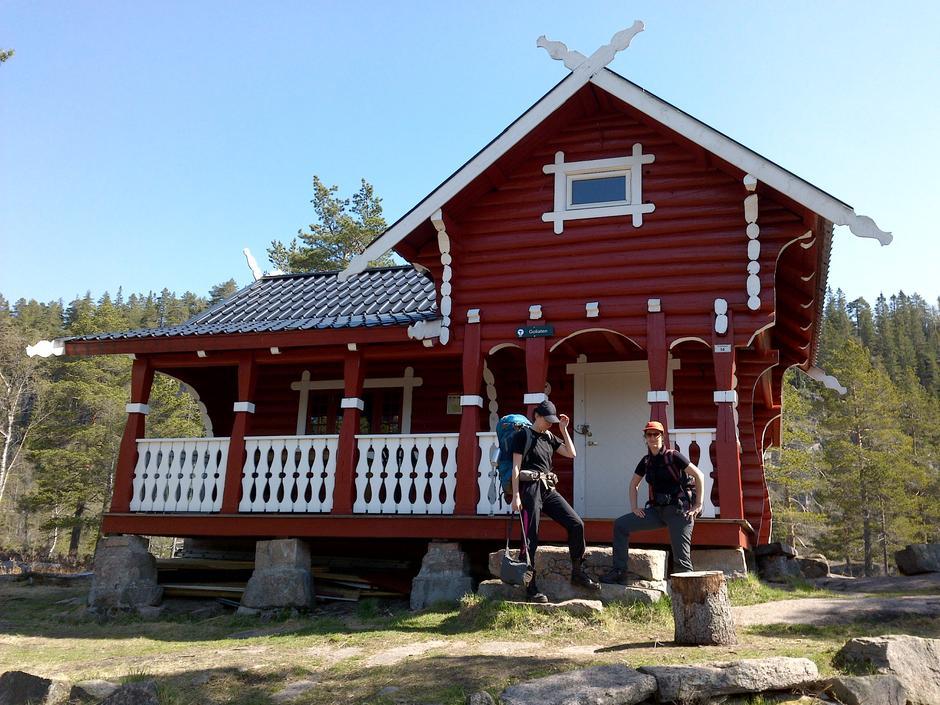 Goliaten. Den mest populære hytta i Finnemarka. Hytta har 8 senger. Husk å reservere plass.