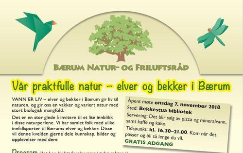 Bærum Natur- og Friluftsråd inviterer!