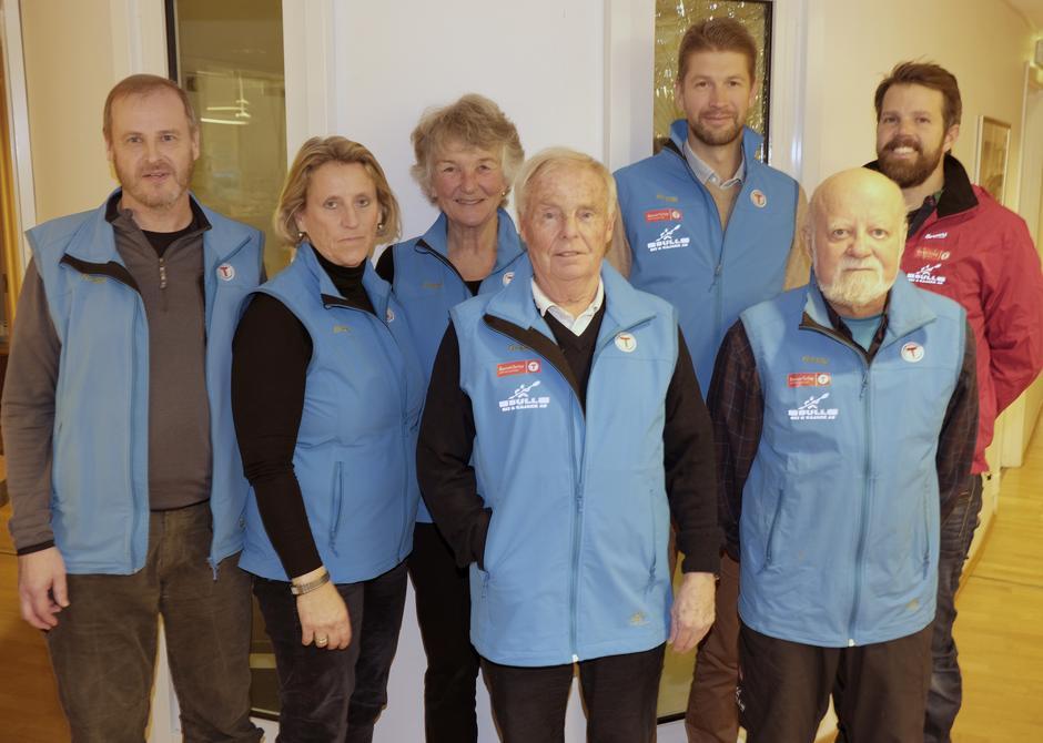 Styret 2017. Fra venstre: Nils Mathisrud, Trine Hansson, Liv Frøysaa Moe, Tor-Herman Næss (nestleder), Erlend Haaverstad, Einar Skage Andersen (leder), Even Sjølie