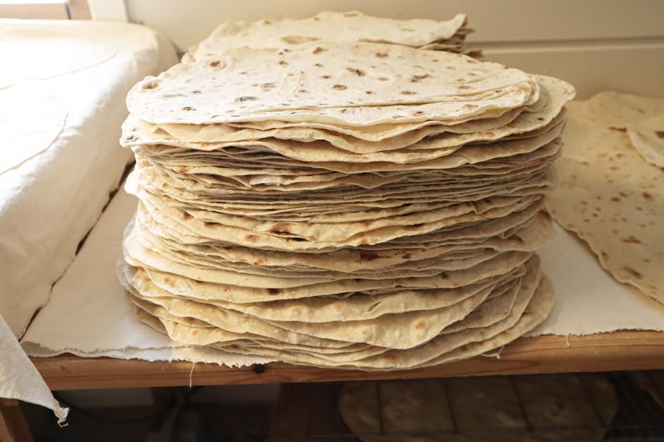 Ferdig pizzabunner klar for pakking