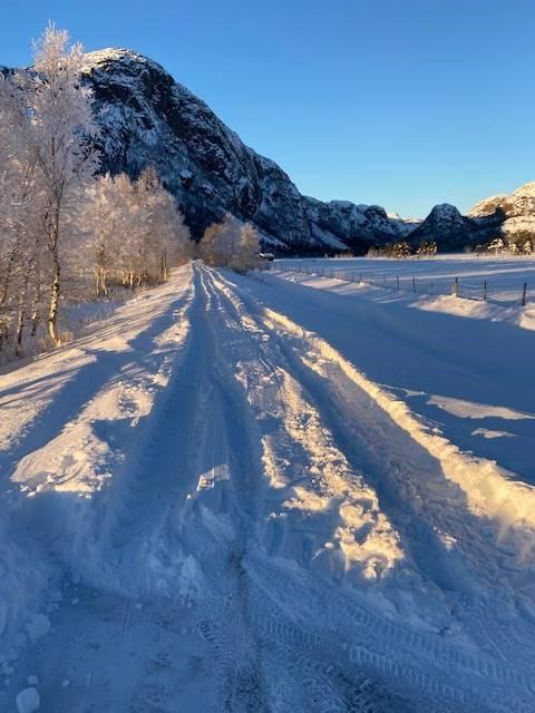 Hit men ikke lenger i Vinddalen på vei til Skåpet. Bildet er tatt 15 januar.