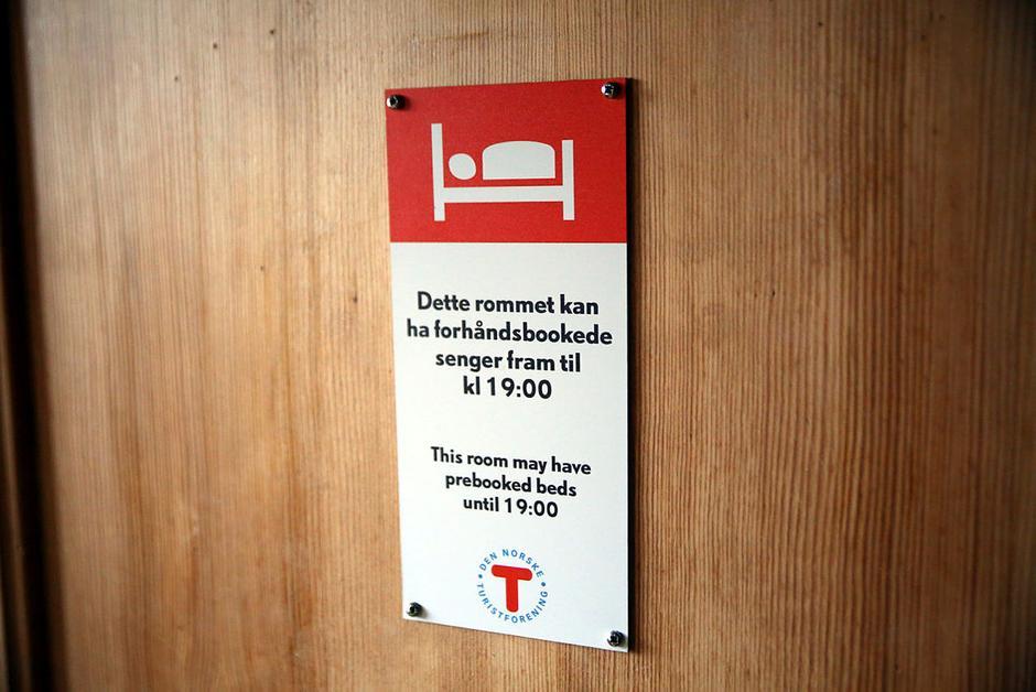 Bookbare rom er tydelig merket. Foto: André Marton Pedersen
