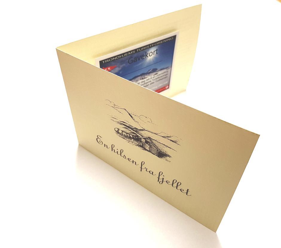 Gir du en tur i gave med overnatting på TT-hytter bruker vi dette gavekortet.