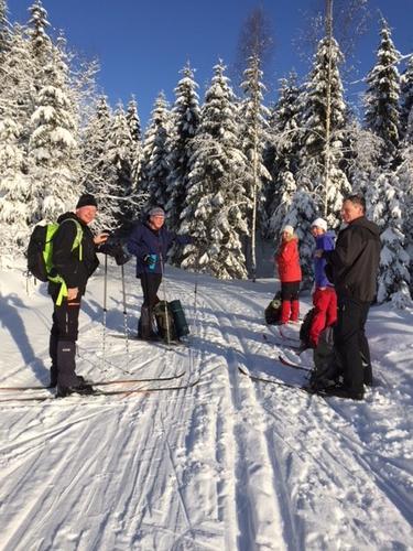 AKTIV: Skitur i Drammensmarka