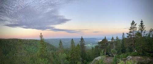 Utsikt fra Midtkollen i Maridalen