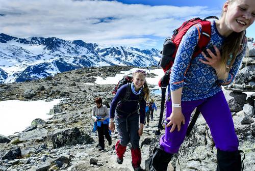 Fin tur over Besseggen i juni 2015