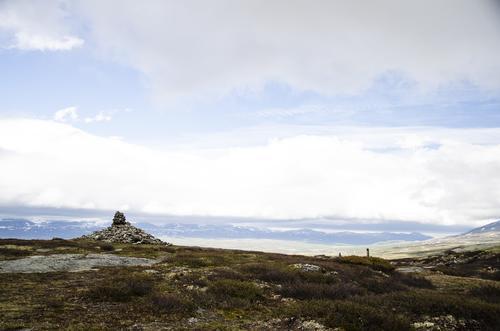 Utsikt fra Allmannsrøysa ved Hjellehøe.