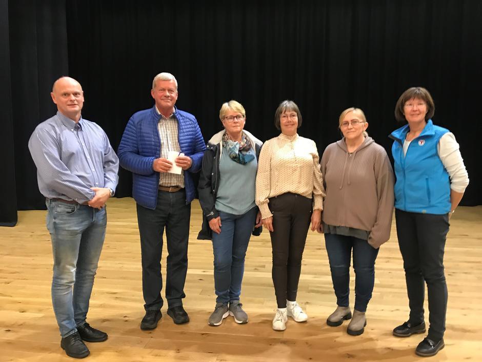 Det nyvalgte interimsstyret i Randaberg Turlag. Trond Vistnes, Helge Bjørnestad, Hilde Enger-Nybø, Anne Grødem, Heidi Karlsen og Anne Katrine Lycke (ansatt STF).