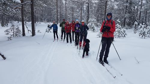 På skitur fra Ringkollen til Skansebakken