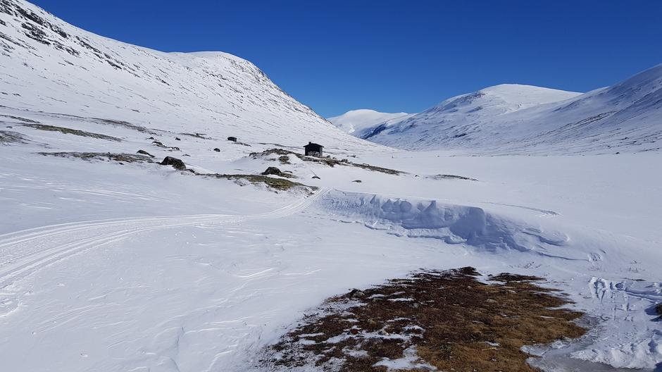 Lundadalsvatnet 1149 moh, retning Bismo