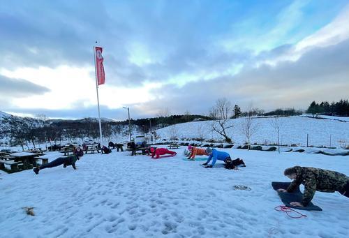 Friluftstrimmen på Gramstad