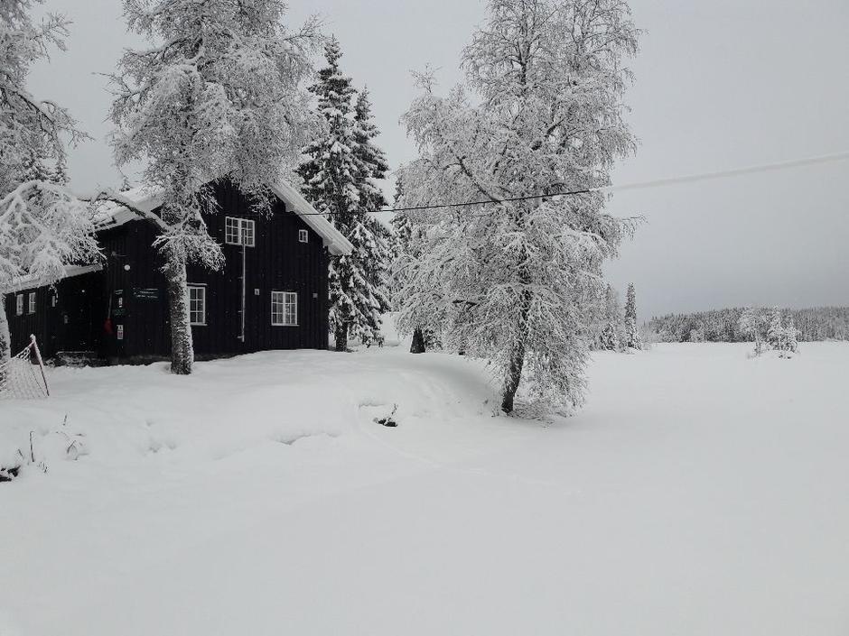 Ferskt bilde av Katnosdammen. Tatt 29/1 etter det etterlengtede snøfallet.