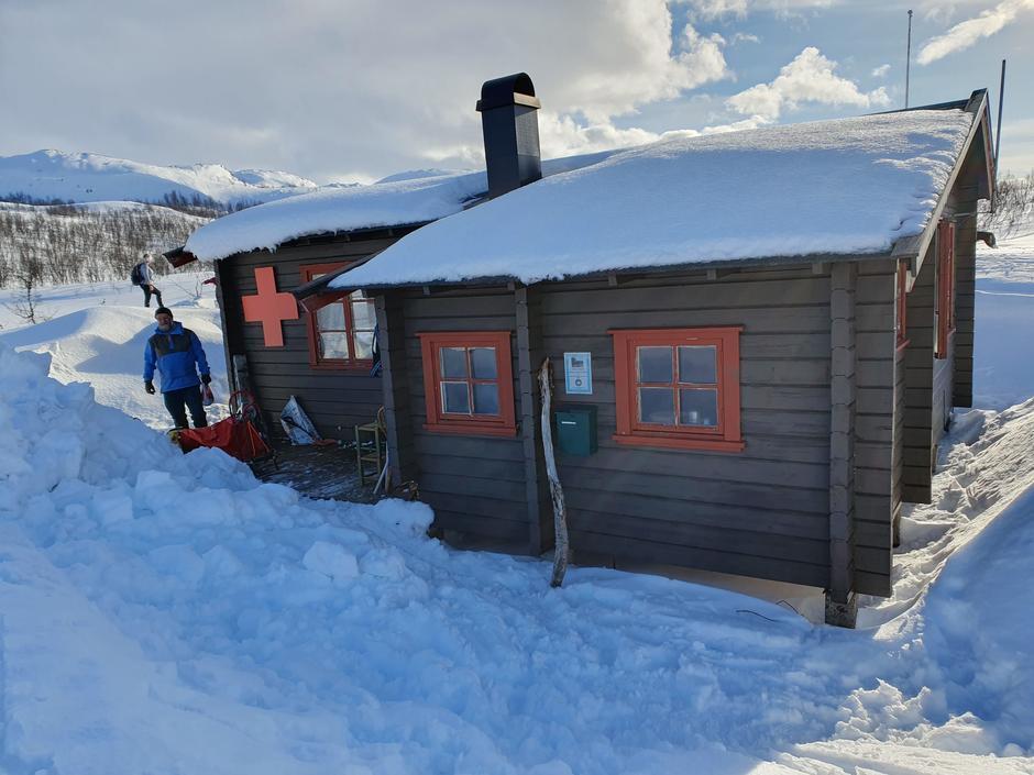 AOTs nye hytte på Sarves