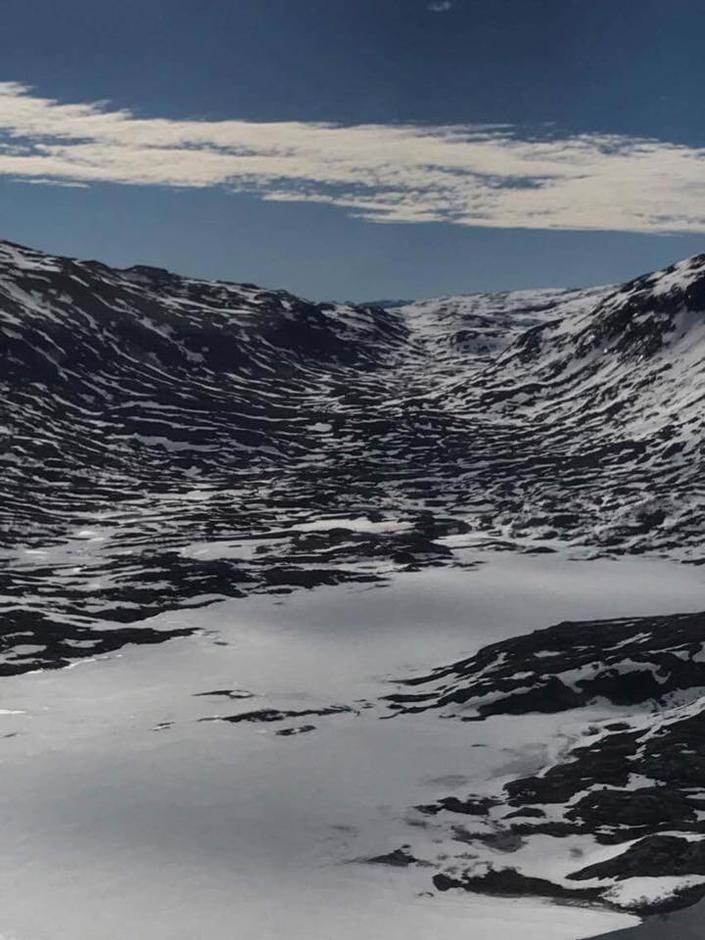 Stavalidalen 22. mai - snøen forsvinner fort nå.