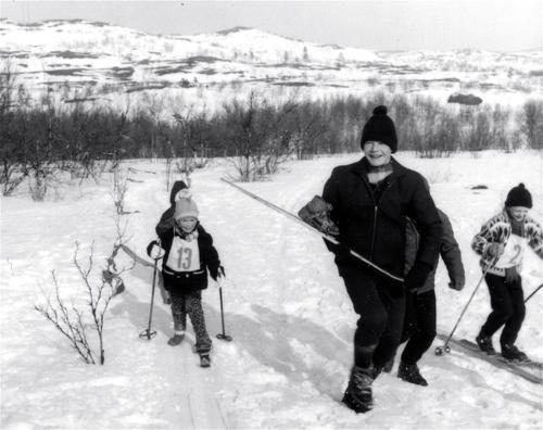 – Når jeg ser dette bildet ser jeg den fantastiske gleden av å gå på ski